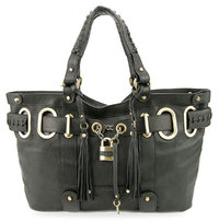 XL Padlock Shopper Bag Black - super soft limited edition