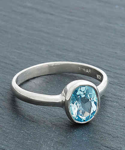 CHARLOTTE Silberring London blue Topaz