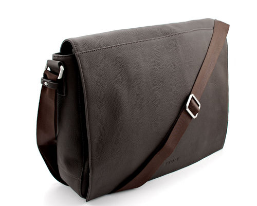 Bovari echt Leder Messenger Bag Model Metz - braun /dark brown -  Limited Premium Edition